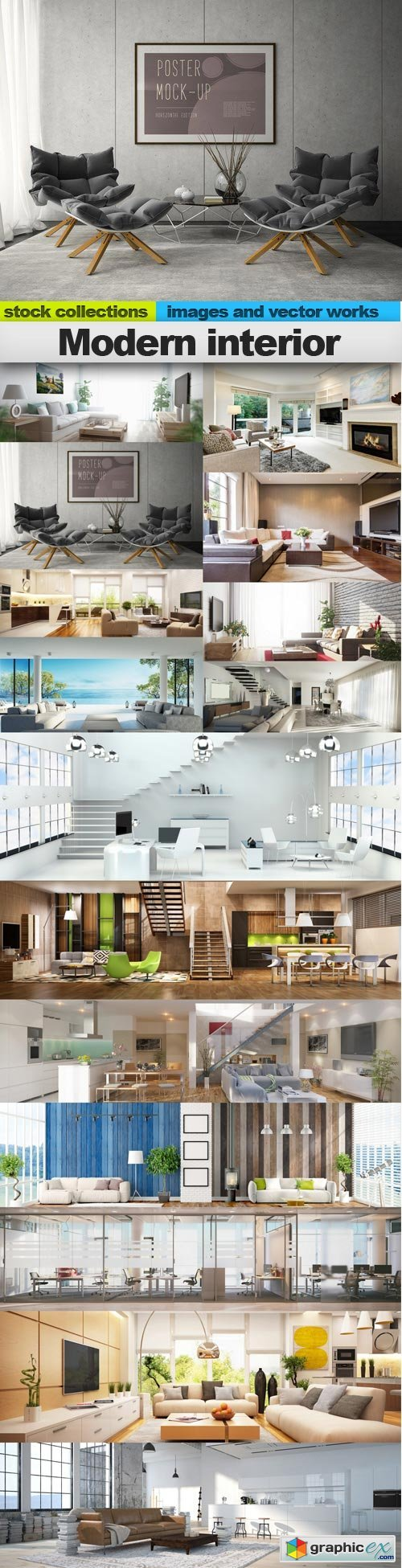 Modern interior, 15 x UHQ JPEG