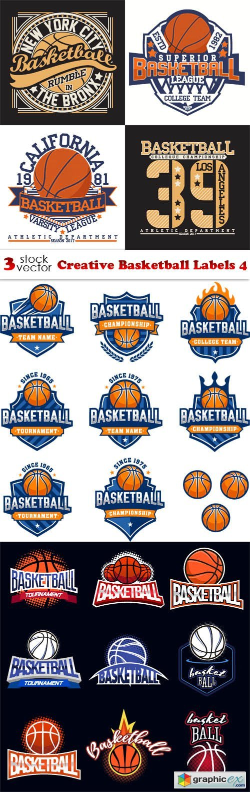 Creative Basketball Labels 4