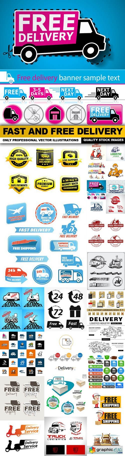Fast And Free Delivery - 25 Vector