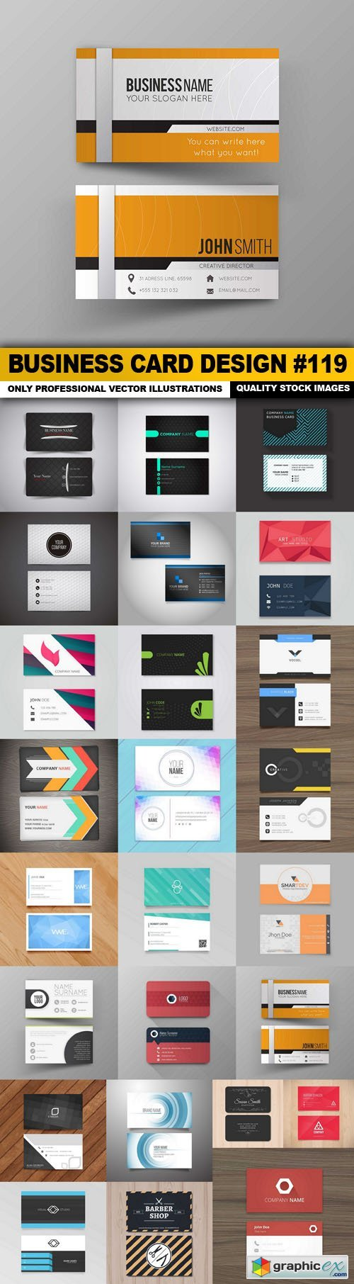 Business Card Design #119 - 25 Vector