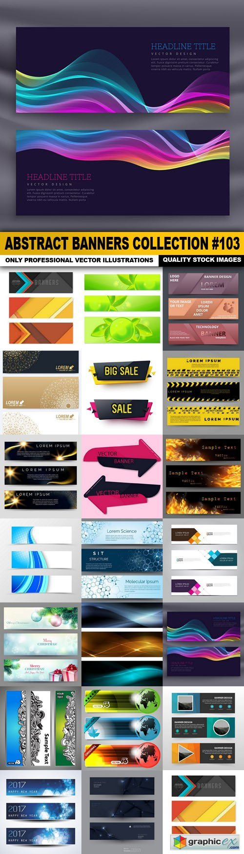 Abstract Banners Collection #103 - 20 Vectors