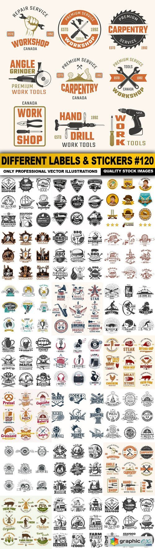 Different Labels & Stickers #120 - 20 Vector
