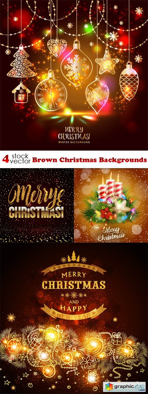 Brown Christmas Backgrounds