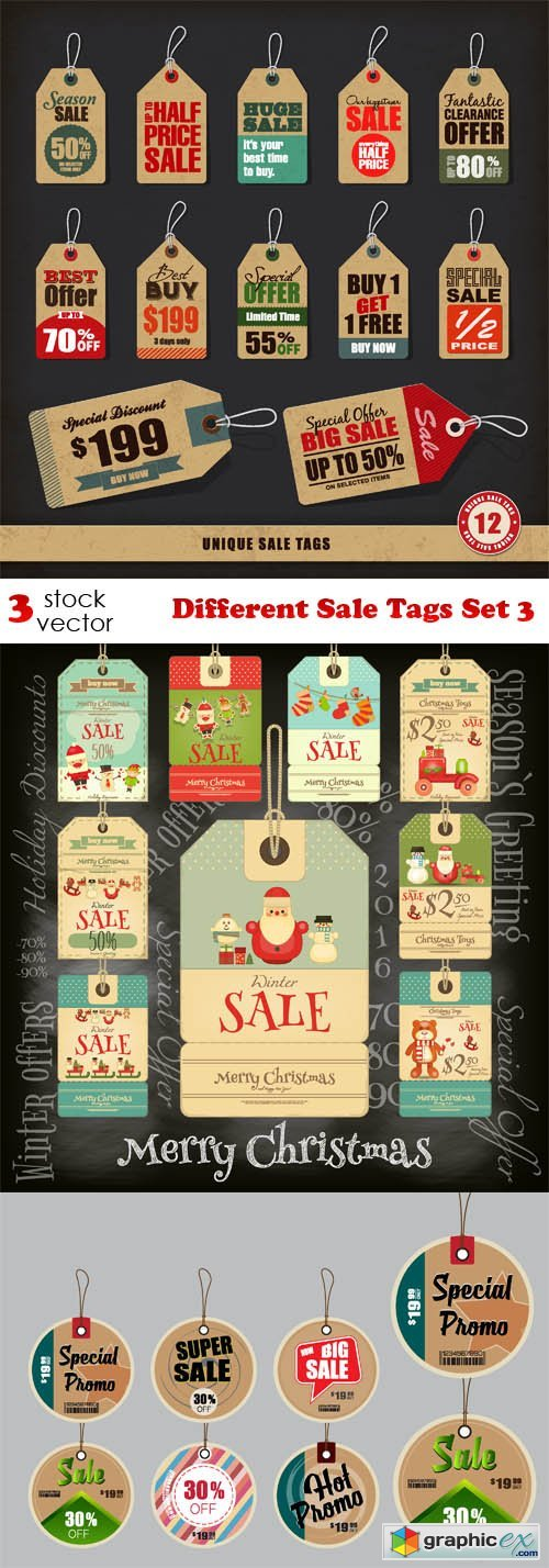 Different Sale Tags Set 3