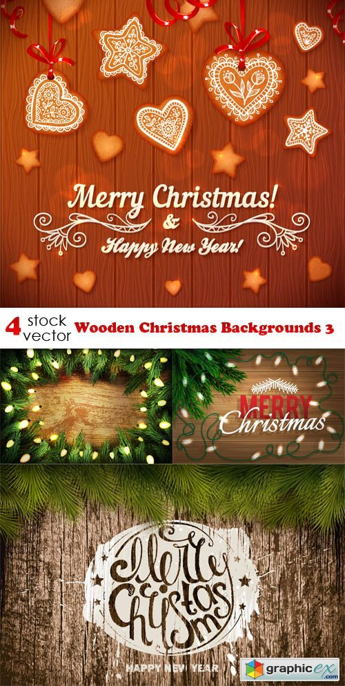 Wooden Christmas Backgrounds 3
