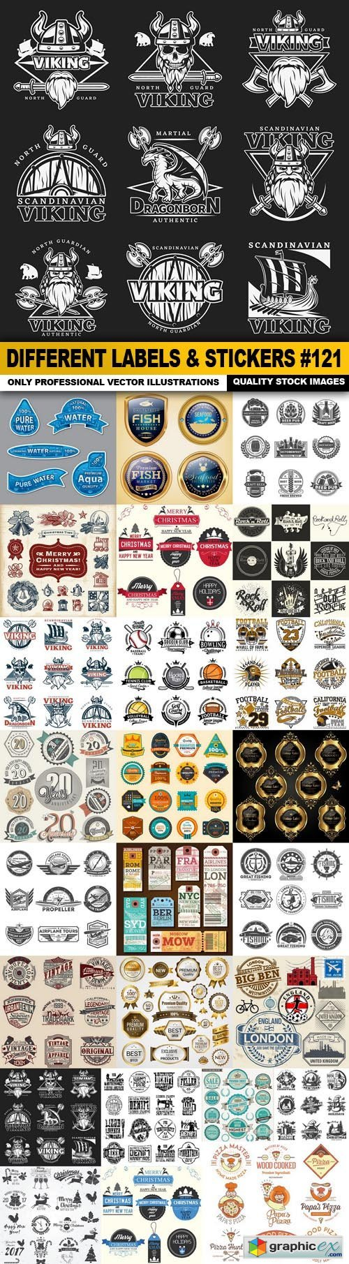 Different Labels & Stickers #121 - 25 Vector