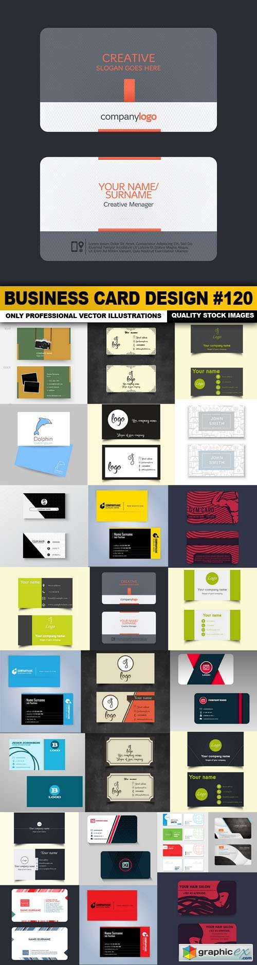 Business Card Design #120 - 25 Vector
