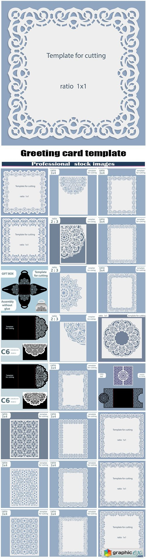 Greeting card template for cutting plotter #5