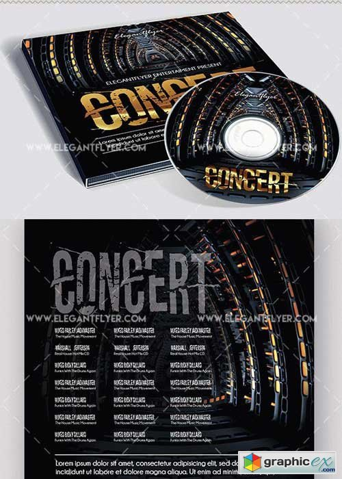 Concert Premium CD Cover PSD V7 Template