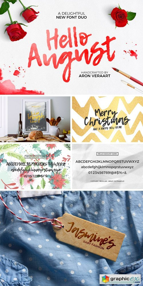 Hello August Font Duo