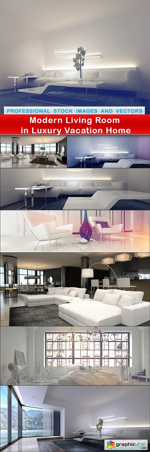 Modern Living Room in Luxury Vacation Home - 8 UHQ JPEG