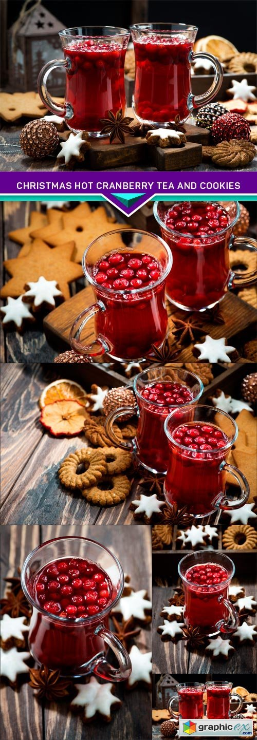 Christmas hot cranberry tea and cookies 5X JPEG