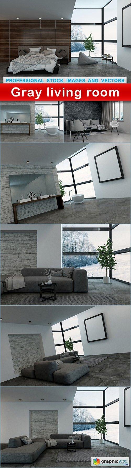 Gray living room - 7 UHQ JPEG