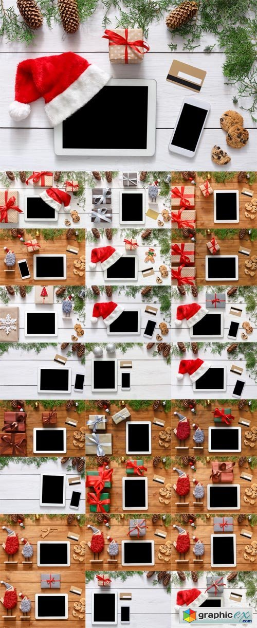 Christmas Online Shopping Backgrounds