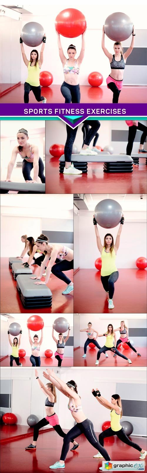 Sports Fitness Exercises 7X JPEG