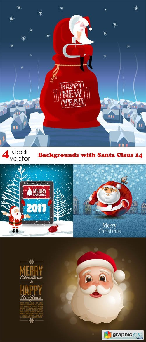 Backgrounds with Santa Claus 14