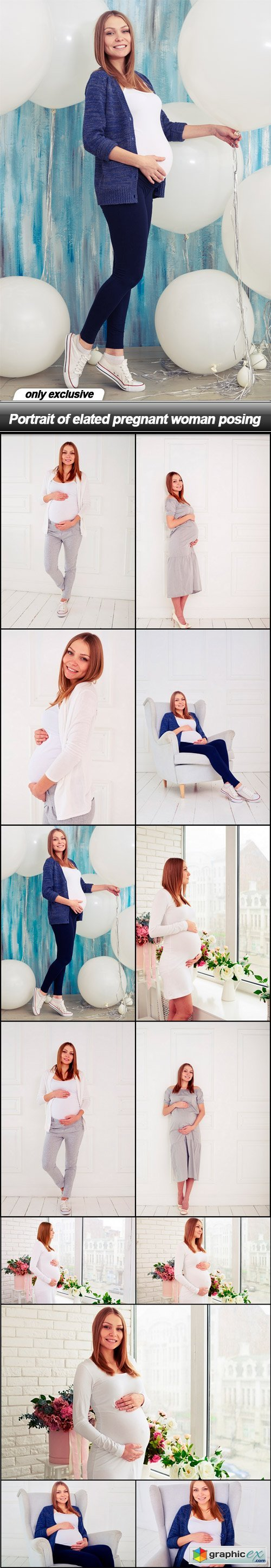 Portrait of elated pregnant woman posing - 13 UHQ JPEG