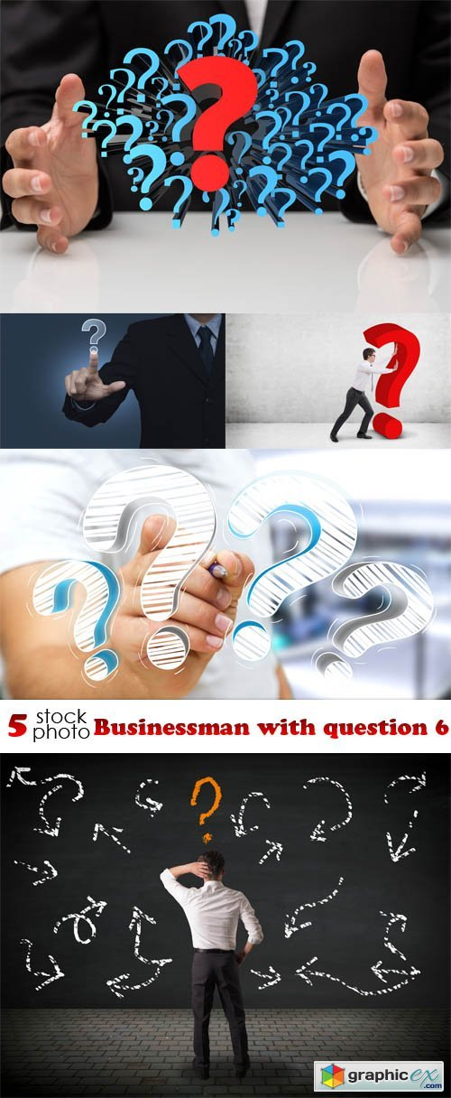 Businessman with question 6