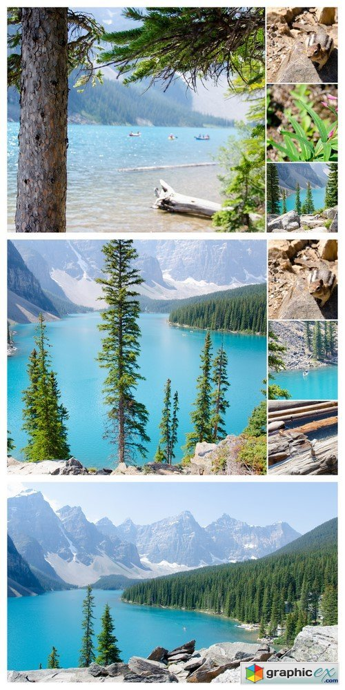 Moraine lake Canada warm summer day 3X JPEG