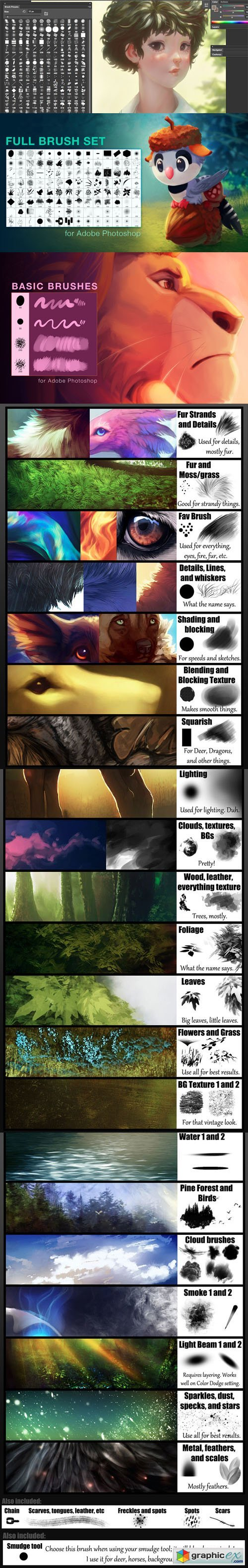 My Brushes Pack - Huge Painting Brushes for Photoshop