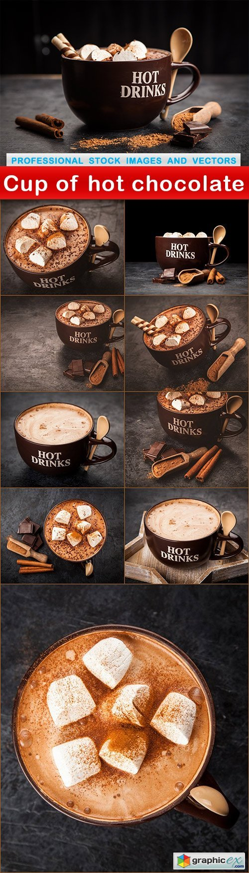 Cup of hot chocolate - 10 UHQ JPEG