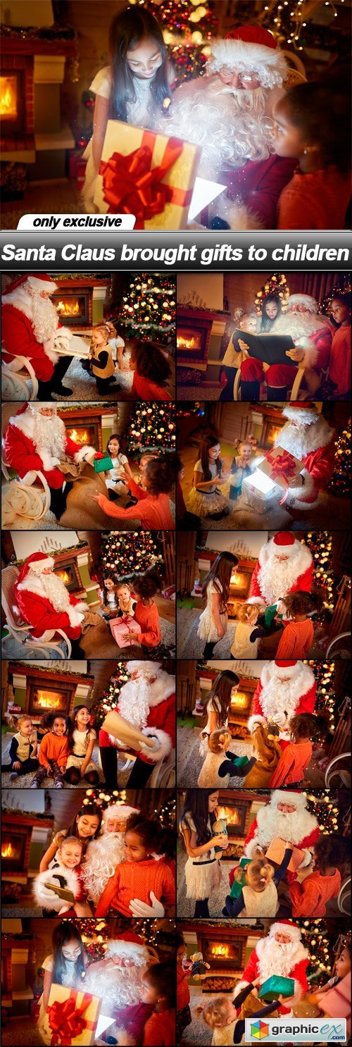Santa Claus brought gifts to children - 12 UHQ JPEG