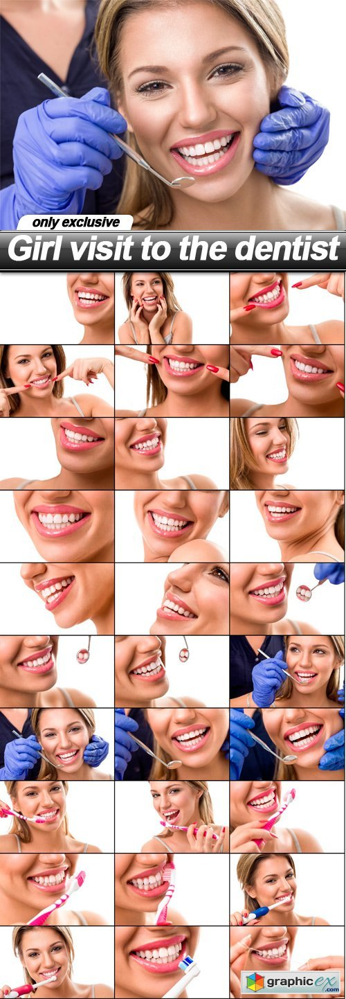 Girl visit to the dentist - 30 UHQ JPEG