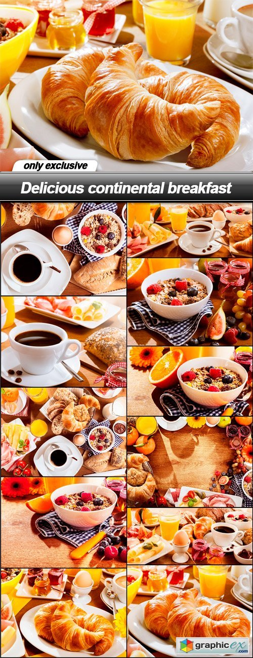 Delicious continental breakfast - 11 UHQ JPEG