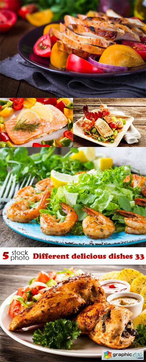 Different delicious dishes 33