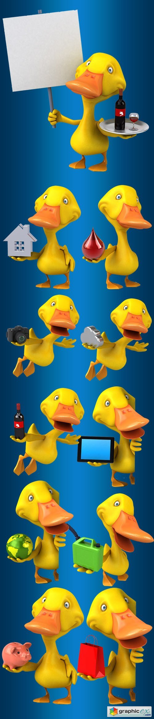 Gifts from duck - Children's clipart