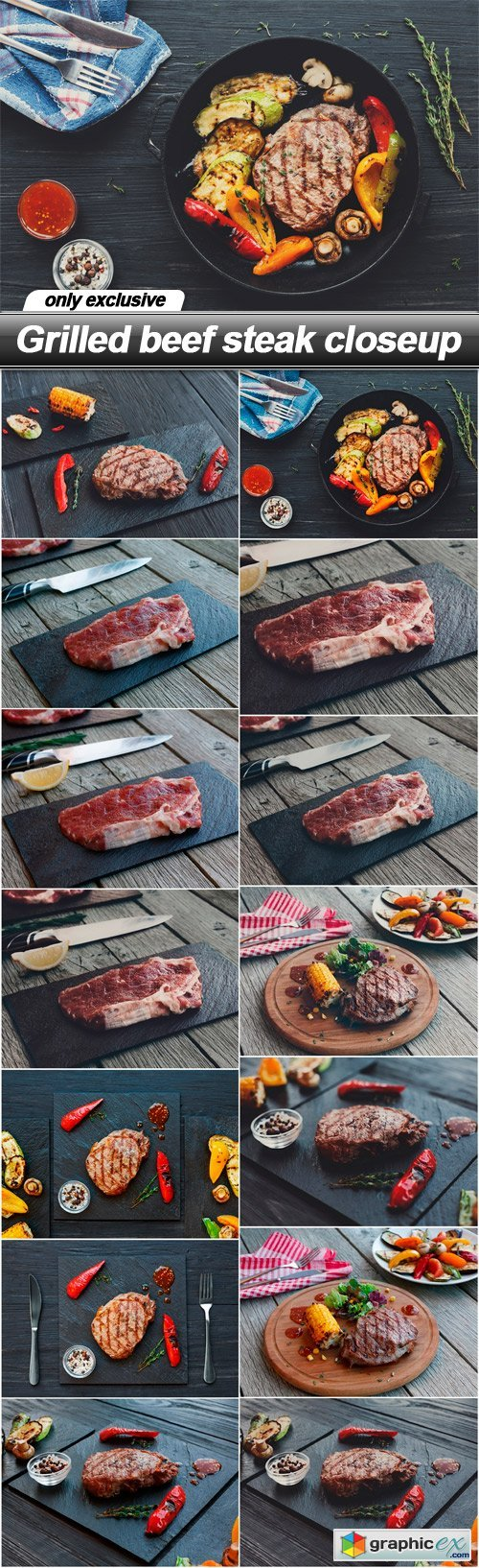 Grilled beef steak closeup - 14 UHQ JPEG