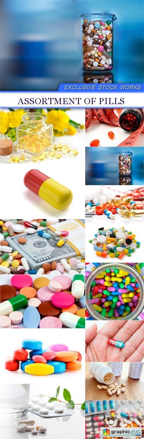Assortment of pills 14X JPEG