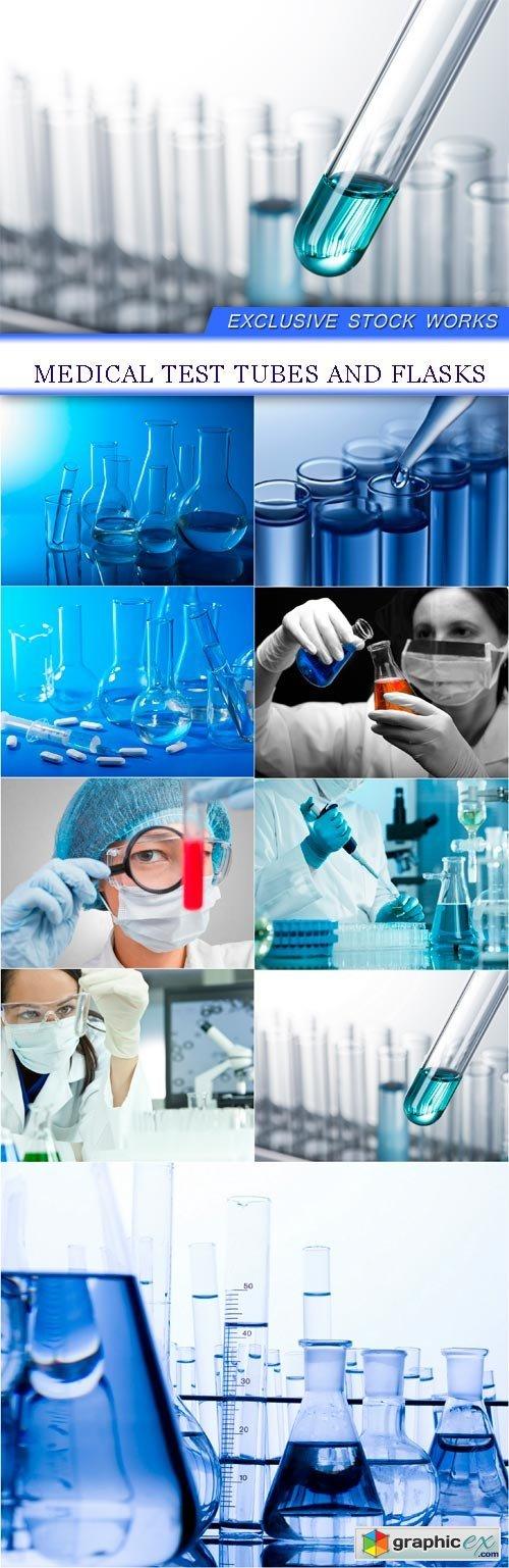 Medical test tubes and flasks 9X JPEG