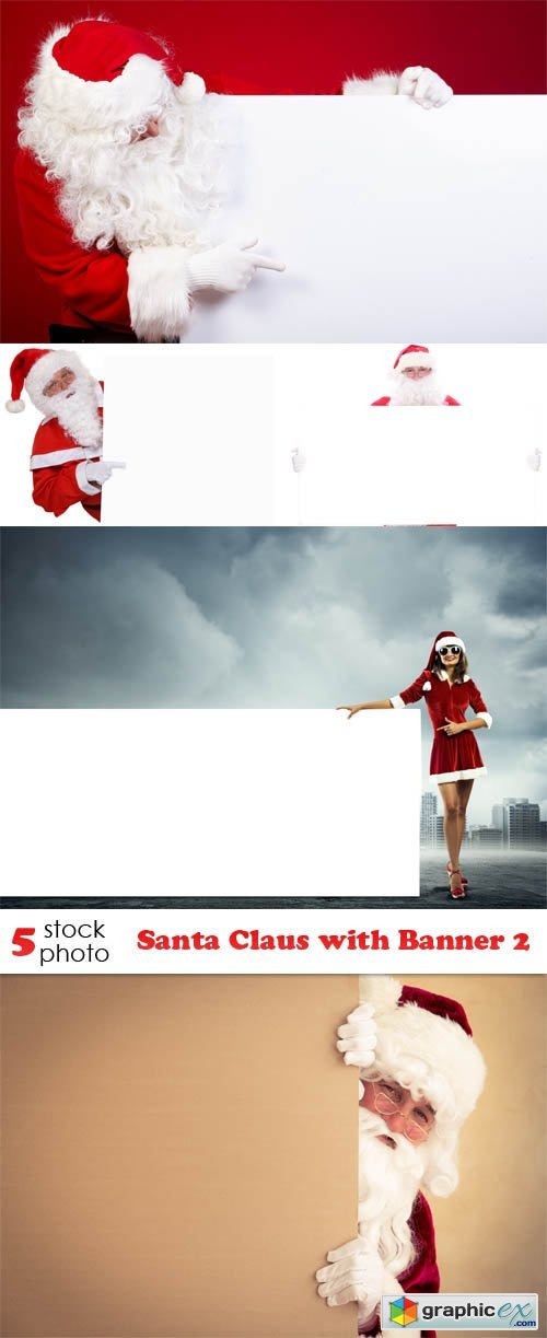 Santa Claus with Banner 2