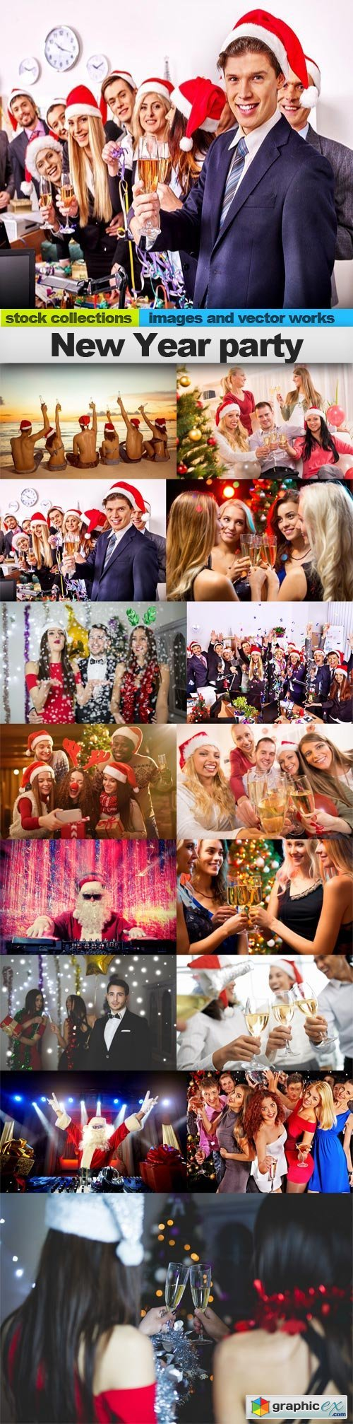 New Year party, 15 x UHQ JPEG