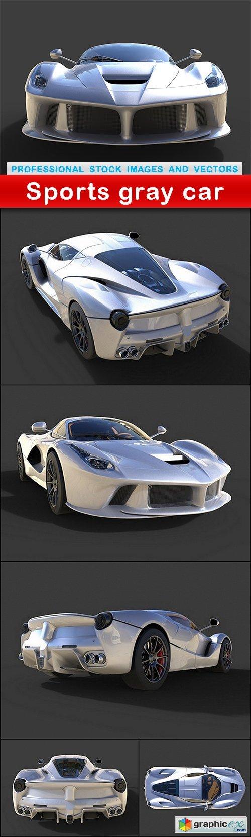 Sports gray car - 6 UHQ JPEG