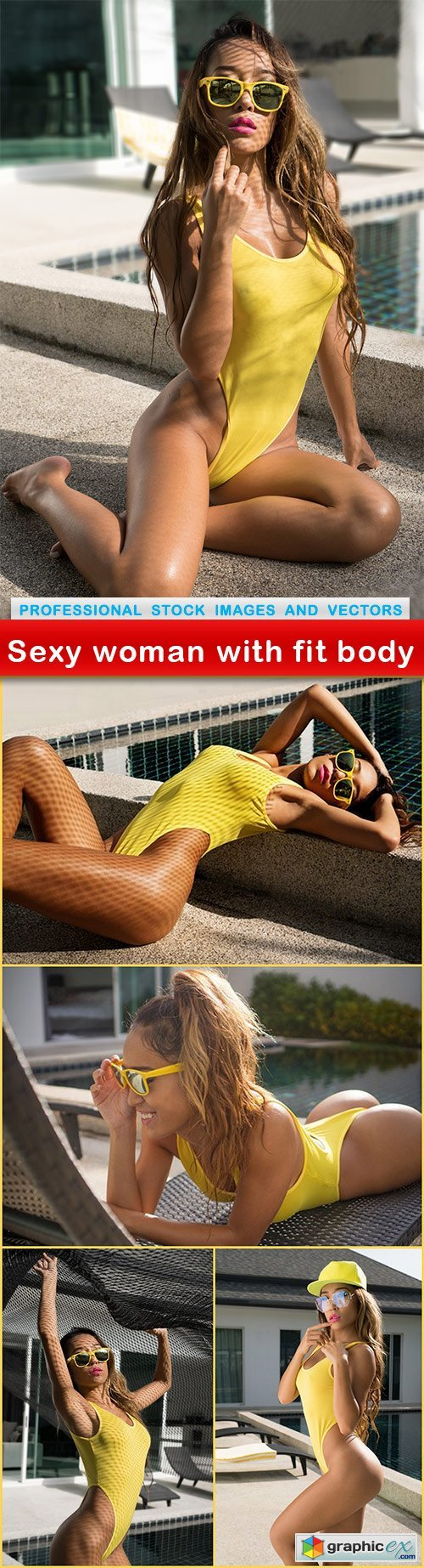 Sexy woman with fit body - 5 UHQ JPEG