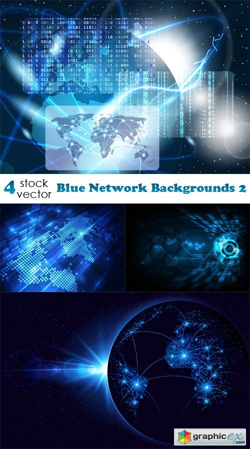 Blue Network Backgrounds 2