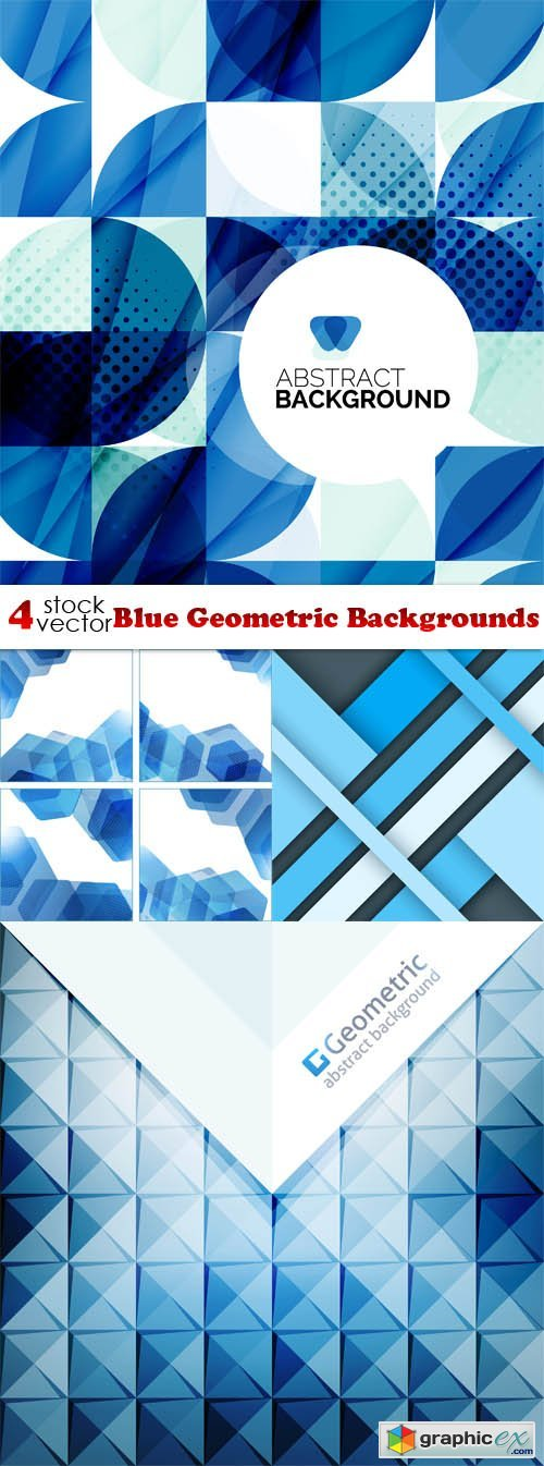 Blue Geometric Backgrounds