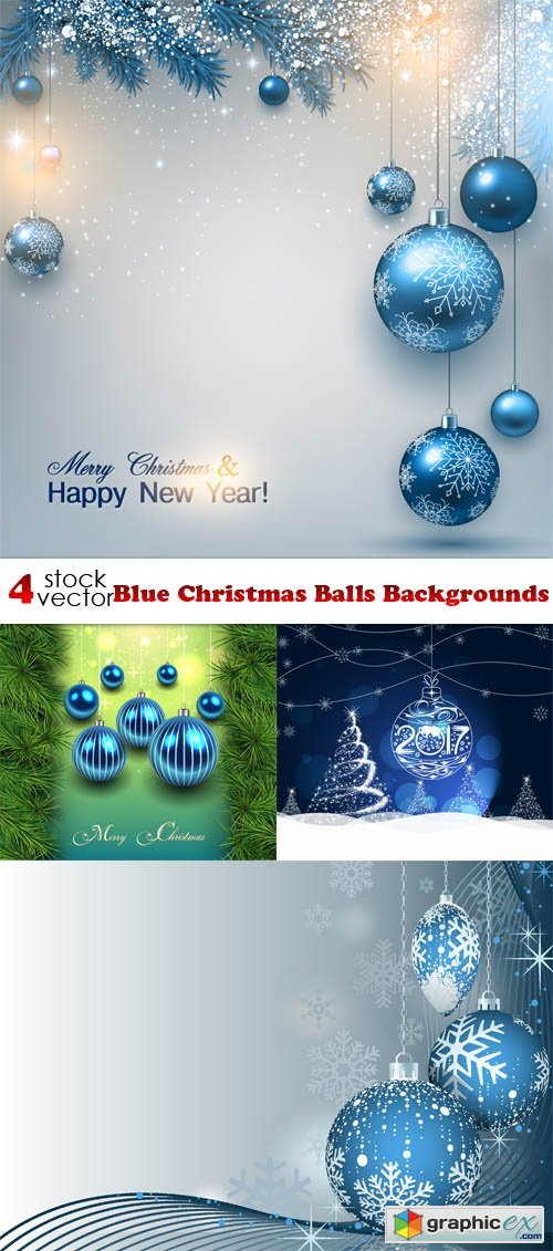 Blue Christmas Balls Backgrounds