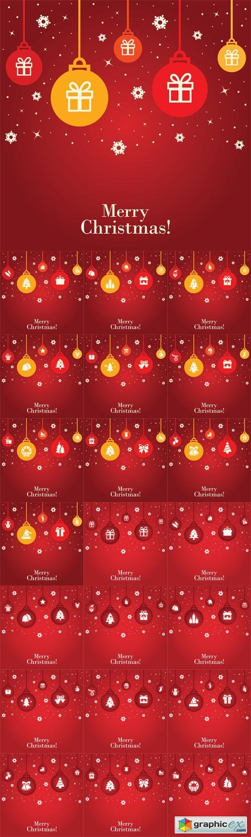 Red Christmas Backgrounds with Gifts