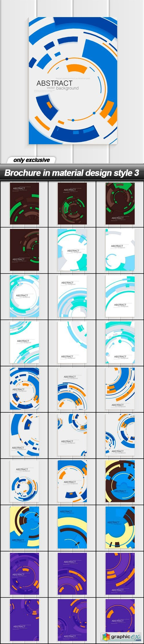 Brochure in material design style 3 - 30 EPS