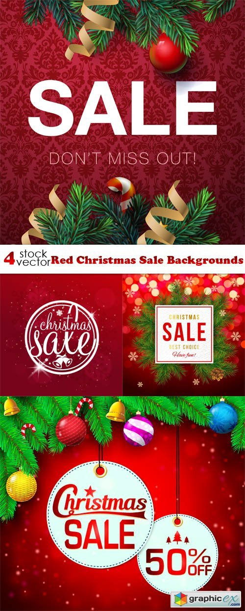 Red Christmas Sale Backgrounds