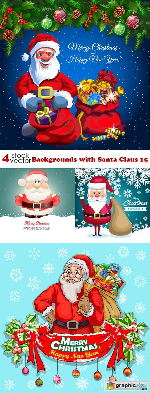 Backgrounds with Santa Claus 15