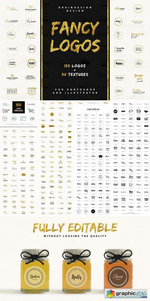 FANCY LOGOS Branding Logo Templates