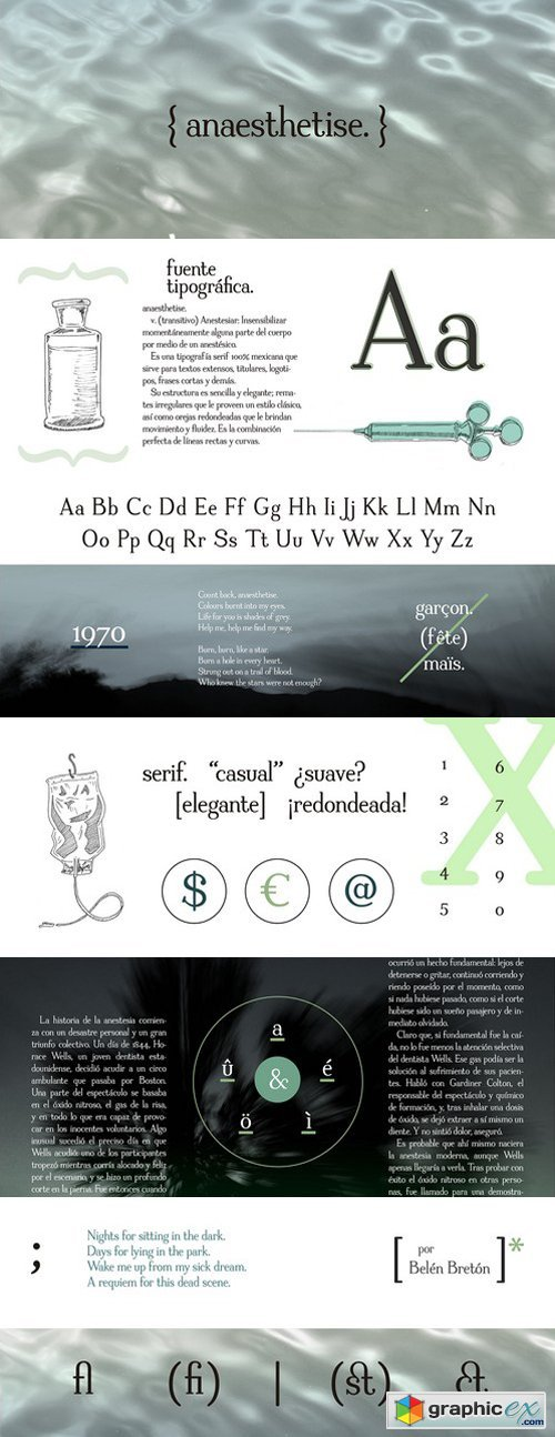 Anaesthetise font » Free Download Vector Stock Image
