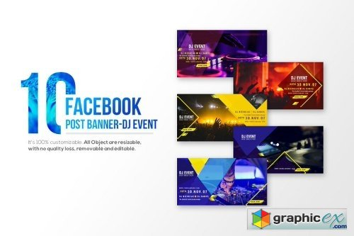 10-Facebook Post banners-DJ Event