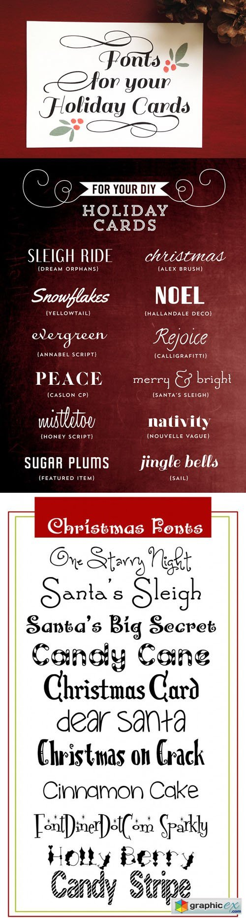 22 Christmas Fonts for Holiday Cards