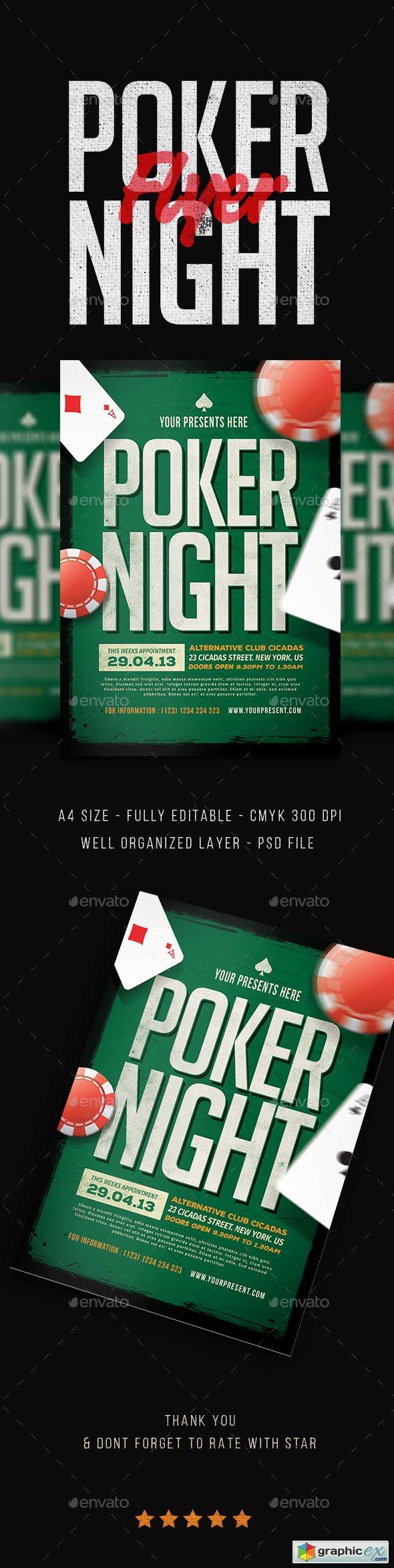 Poker night poster template : Truc et astuces black jack