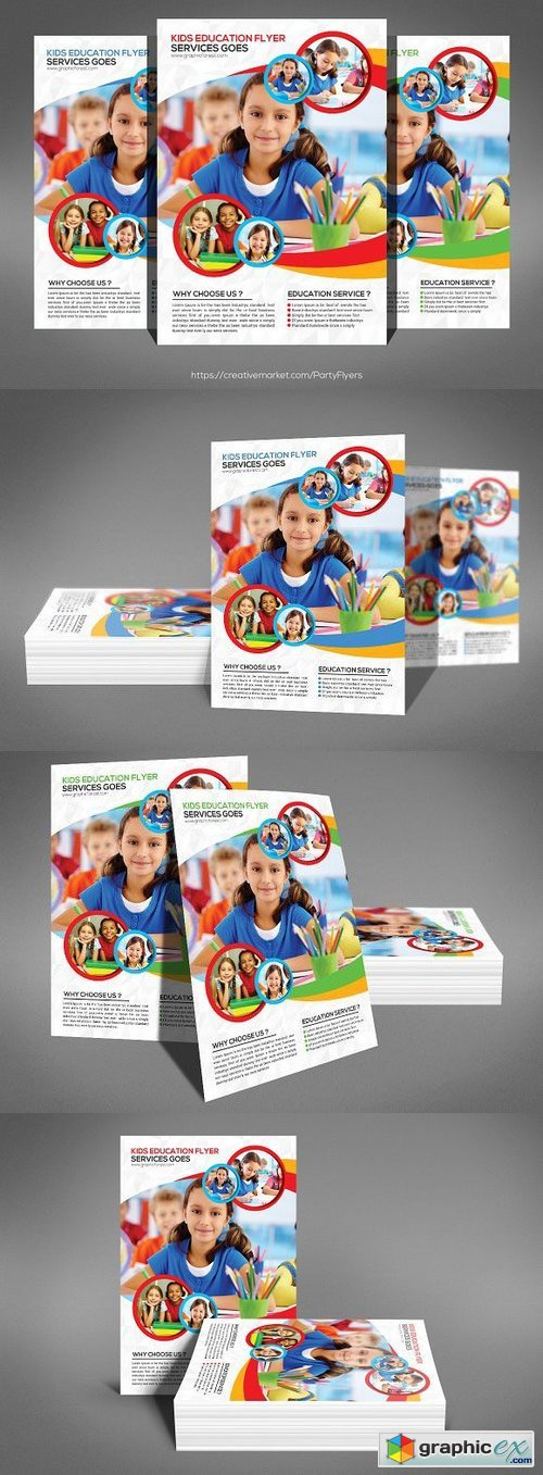 School Flyer Templates Free Download Vector Stock Image Photoshop Icon